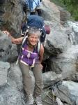Patricia Anne Davis on Mt Belukha