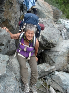 Patricia Anne Davis on Mt Belukha